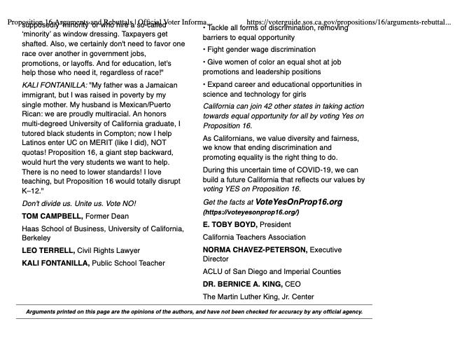 Proposition 16 Arguments and Rebuttals p2